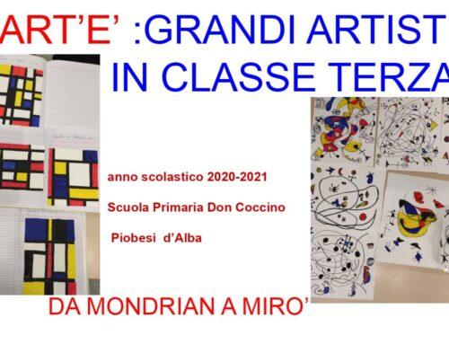 ART'E'….GRANDI ARTISTI-cl.3′-A.S. 2020/'21